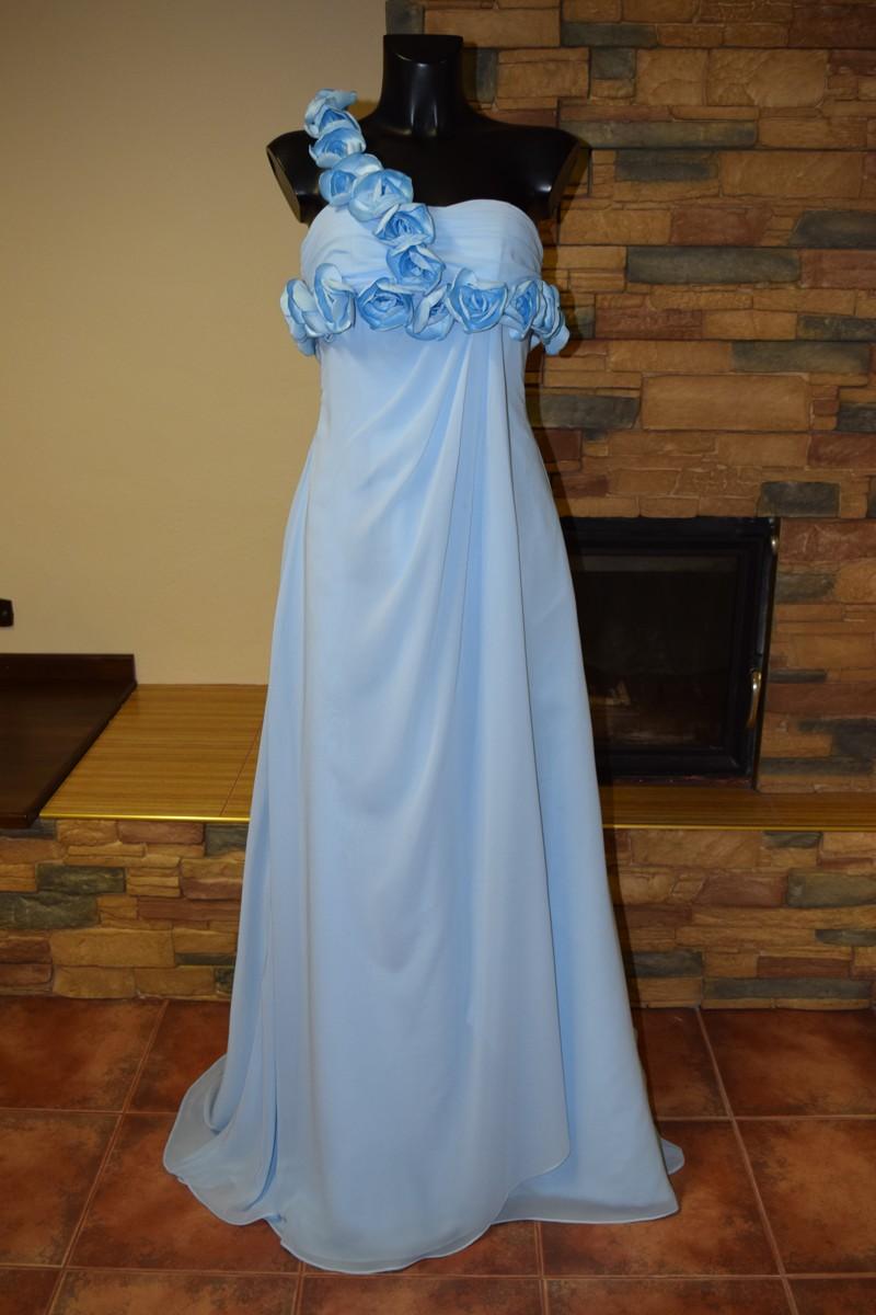 44272573451 dlouhé modré plesové šaty